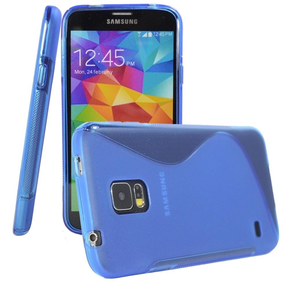 Samsung Galaxy S5 Wave Case Blue Color