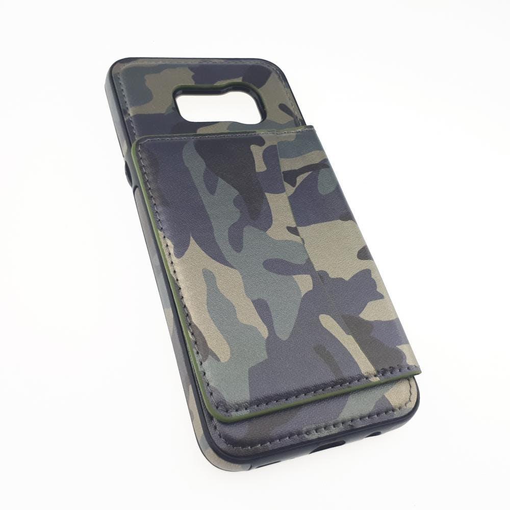 S8 Plus Camo Leather Flip Case