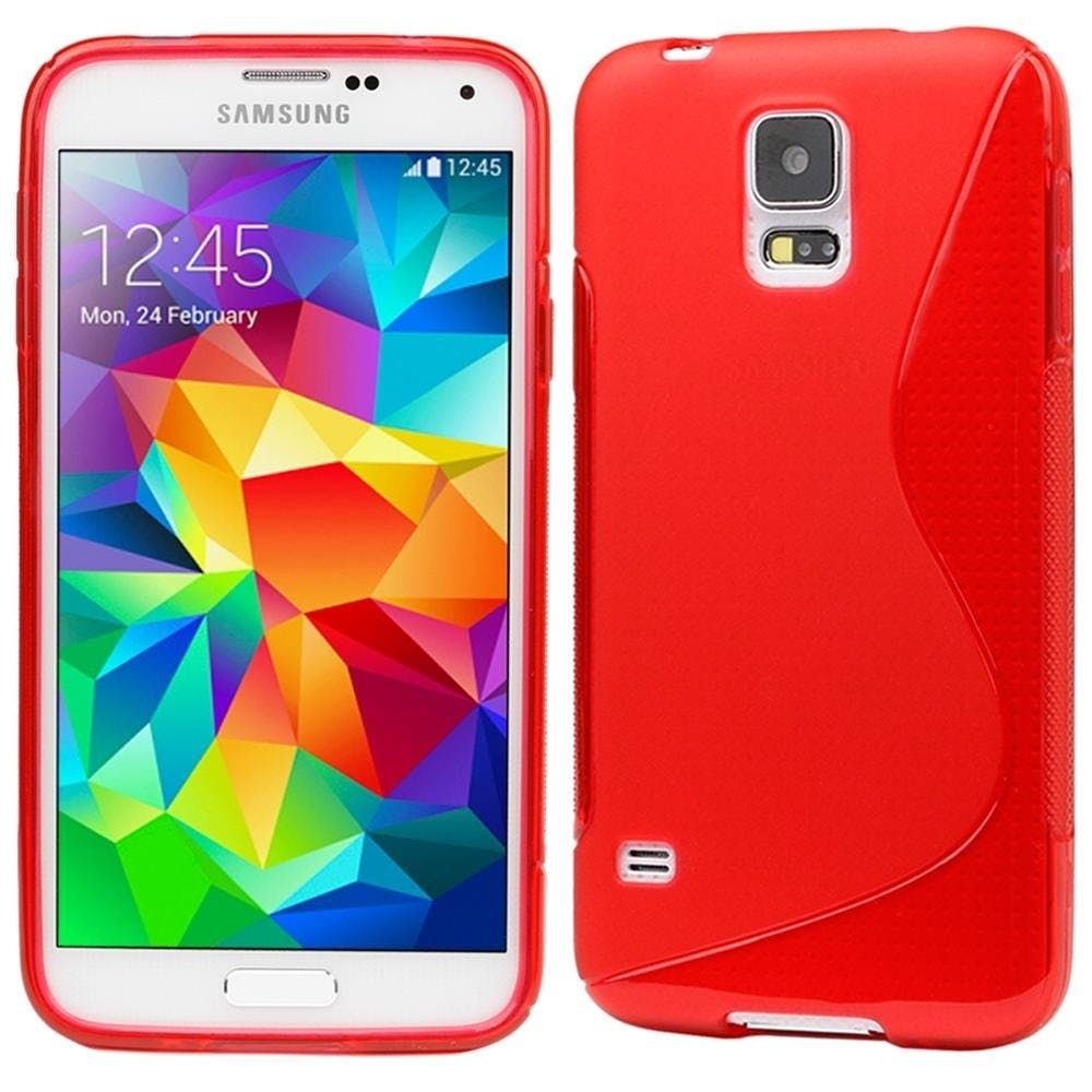 Samsung Galaxy S5 Wave Case Red Color