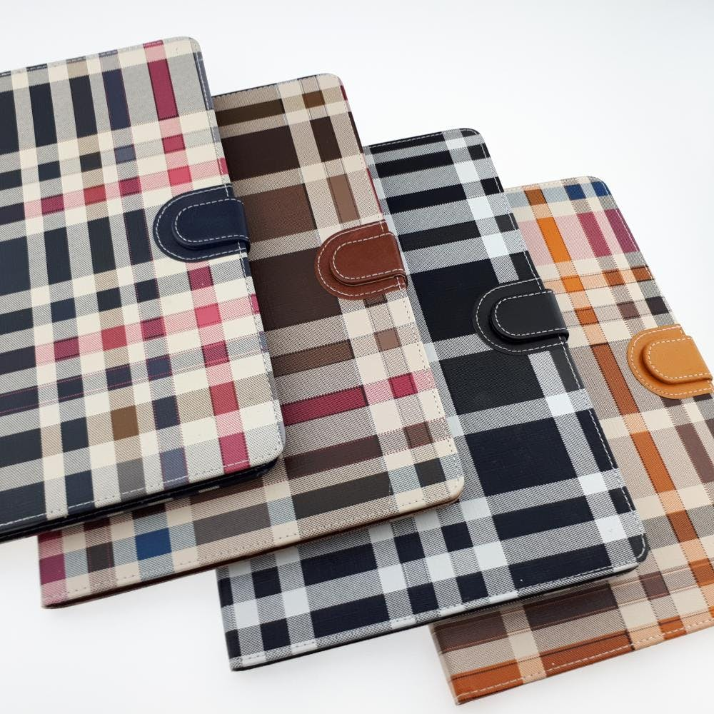 Plaid Leather Case - iPad Air 2