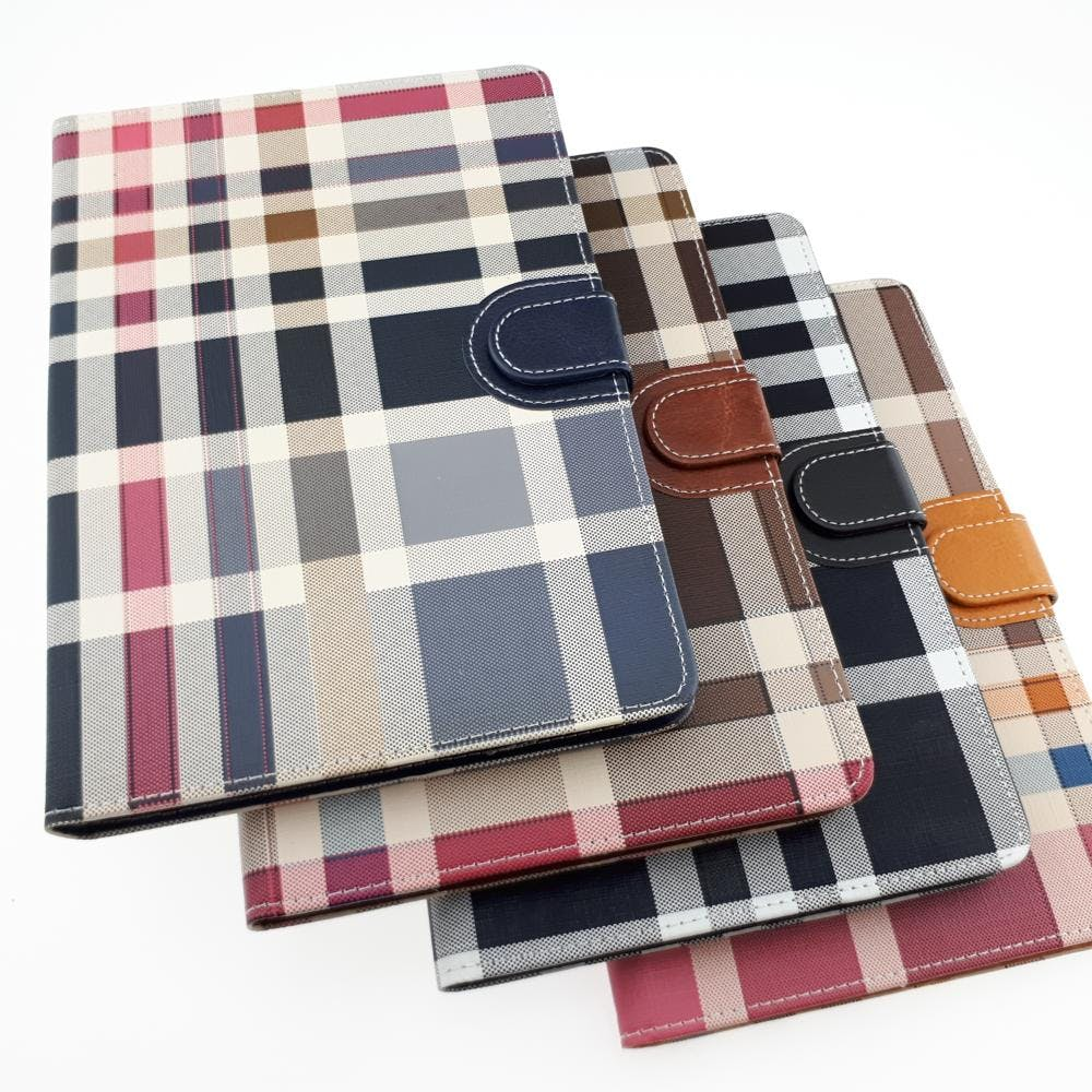 Plaid Leather Case - iPad Mini 3