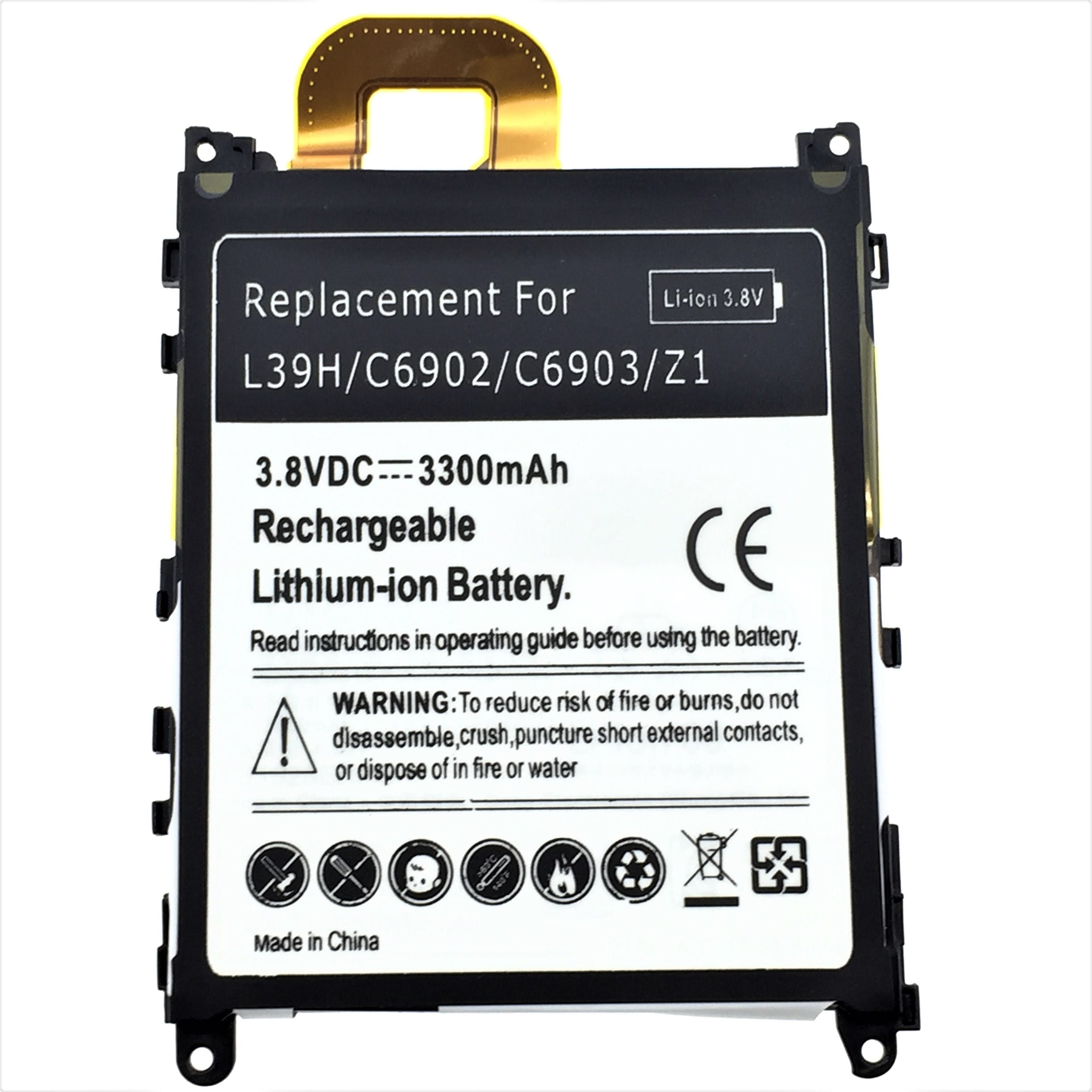 Sony Xperia Z1 L39h Replacement Battery